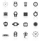 Icon set  clocks Stock Photos