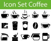 Icon Set Coffee I. With 15 icons for different purchase in web und graphic design vector illustration