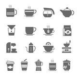 Icon set - coffee and tea Stock Photos