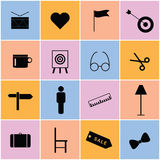 Icon set color art illustration Royalty Free Stock Photography