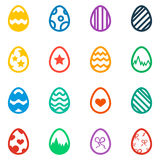 Icon set of colored Easter eggs Holiday icon  Stock Photos