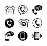 9 icon set - communication. Call, phone Stock Photos
