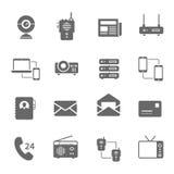 Icon set - communication devices Stock Photo