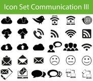 Icon Set Communication III Royalty Free Stock Photos