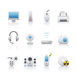 Icon Set - Computer Equipament Stock Images