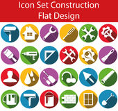 Icon Set Construction I. With 24 icons for the creative use in web an graphic design Stock Photos