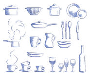 Icon set cooking utensils Royalty Free Stock Photography