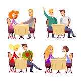 Icon set of couples of various orientations having date Royalty Free Stock Photo
