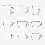 Icon Set of cups Royalty Free Stock Image