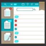 Icon set, design sorter documents Stock Photos