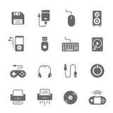 Icon set - devices accessory Stock Photo