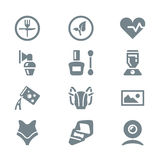 Icon set different household objects Royalty Free Stock Photo