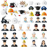 Icon set for different professions jumbo collection Stock Images