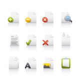 Icon Set - Document Files. Set of icons on white background in Adobe Illustrator EPS 8 format for multiple applications Stock Photography