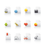 Icon Set - Document Files. Set of icons on white background in Adobe Illustrator EPS 8 format for multiple applications Stock Images