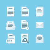 Icon set of documents for the website, a mobile application Stock Image