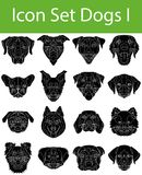 Icon Set Dogs I. With 16 icons for the creative use in graphic design Royalty Free Illustration