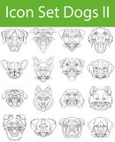 Icon Set Dogs II. With 16 icons for the creative use in graphic design Stock Illustration