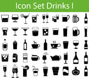 Icon Set Drinks I Royalty Free Stock Photo