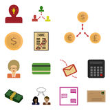 Icon set earnings Royalty Free Stock Images