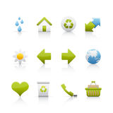 Icon Set - Ecology Stock Images