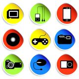 Icon set of electronic gadgets Royalty Free Stock Photos