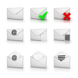 Icon set email Stock Photos