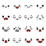 Icon set of emoji emoticons with different emotions Vector illustration stock images
