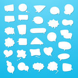 Icon set of empty speech bubbles, think clouds. Collection of comics talk balloon symbols Royalty Free Stock Photography