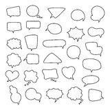 Icon set of empty speech bubbles, think clouds. Collection of comics talk balloon symbols Royalty Free Stock Image