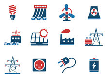 Icon Set, Energy and Industry Royalty Free Stock Photos