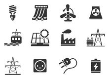 Icon Set, Energy and Industry Royalty Free Stock Photo