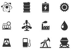 Icon Set, Energy and Industry Stock Image
