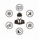 Icon set engineer Stock Photo