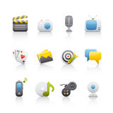 Icon Set - Entertainment Stock Photo