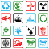 Icon set Environment Stock Photography