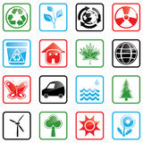 Icon set Environment Stock Photos