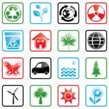Icon set Environment Stock Photos