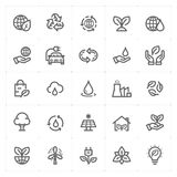 Icon set - environment outline stroke. Vector illustration Royalty Free Stock Images