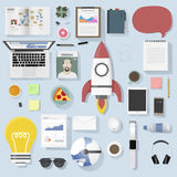 Icon set equipment lifestyle vector icon illustration Concept royalty free illustration