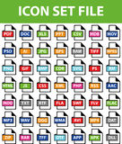 Icon Set File. Icon Set Finances I with 49 icons for different purchase Royalty Free Stock Photos