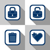 Icon set files stock illustration
