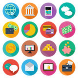 Icon set for finance, investment management Stock Image