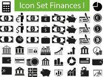 Icon Set Finances I. Icon Set Flowers I with 50 icons for different purchase Stock Photos