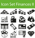 Icon Set Finances II. With 16 icons for the creative use in graphic design Stock Images