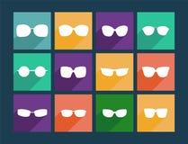 Icon Set Flat Sunglasses - Illustration Royalty Free Stock Image