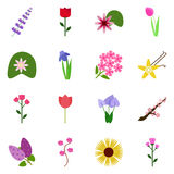 Icon set floret Stock Photos
