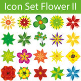 Icon Set Flower II. Icon Set Flowers II with 20 icons for different purchase stock illustration
