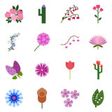 Icon set flowering. Vector flowering. Icon on a white background Stock Photography