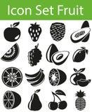 Icon Set Fruit Stock Photography